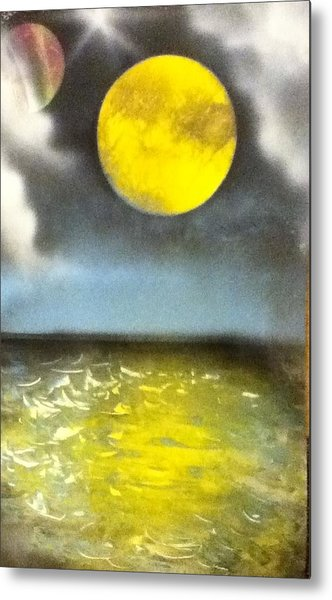 Harvest Moon Metal Print by Angel Griffin