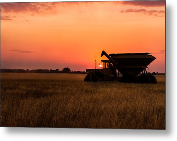 Harvest Sunset Metal Print