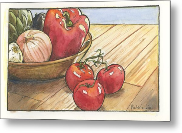 Harvest Table Metal Print