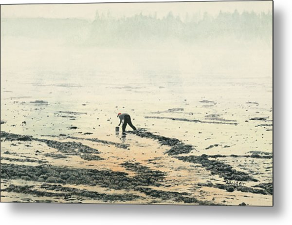 Harvesting The Flats Metal Print by Brent Ander
