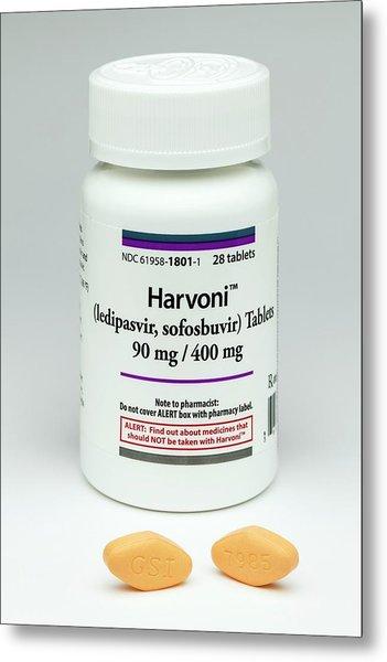 Harvoni Hepatitis C Drug Metal Print
