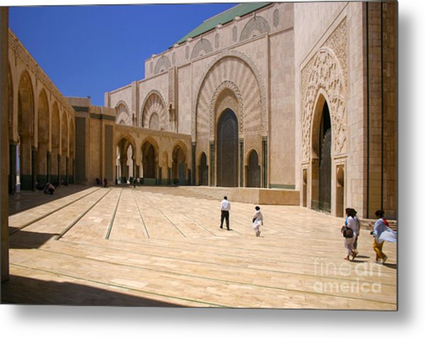 Hassan II Mosque Grand Mosque Sour Jdid Casablanca Morocco Metal Print by PIXELS  XPOSED Ralph A Ledergerber Photography