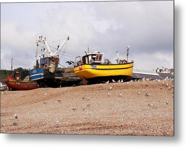 Hastings Fishing Boats Metal Print