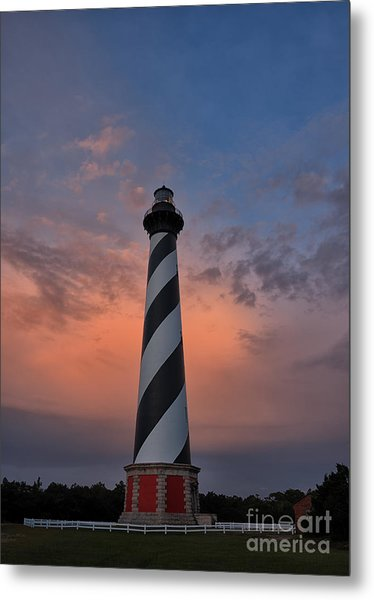 Hatteras Lighthouse Dawn Metal Print