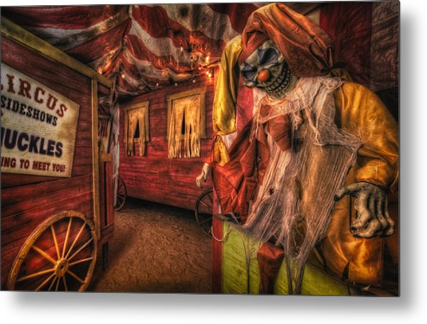 Haunted Circus Metal Print