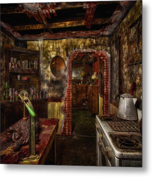 Haunted Kitchen Metal Print
