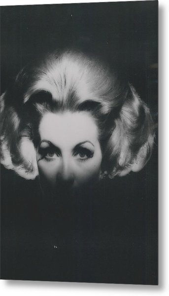 �haute-coiffire�  In Black And Whte Metal Print by Retro Images Archive