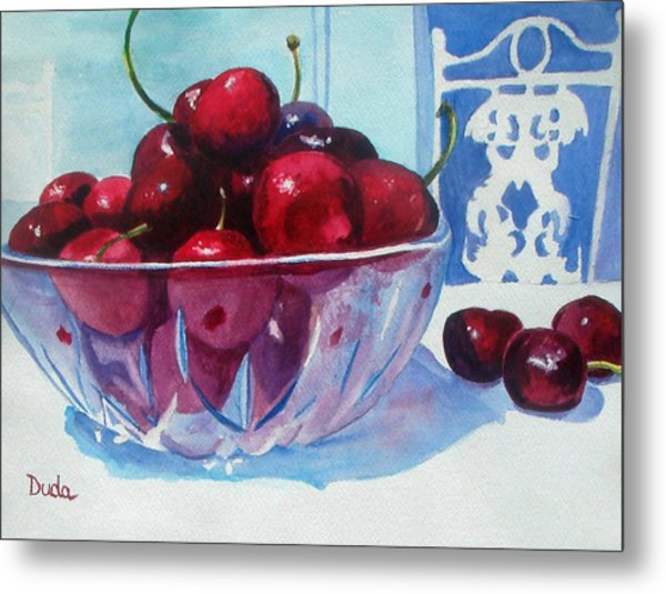 Have A Bing Cherry Go Ahead Try Em Metal Print