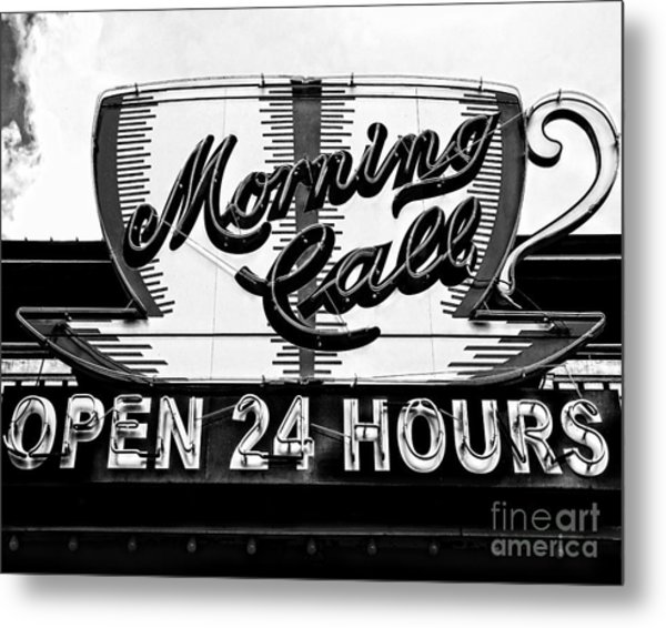 Have A Cup Of Coffee At Morning Call New Orleans Metal Print