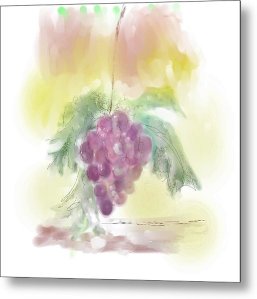 Have A Grape Day Metal Print by Peggy Bosse