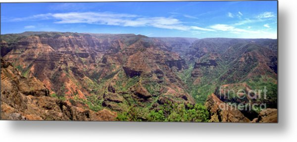 Hawaii Kauai Waimea Canyon Beautiful Panorama Metal Print