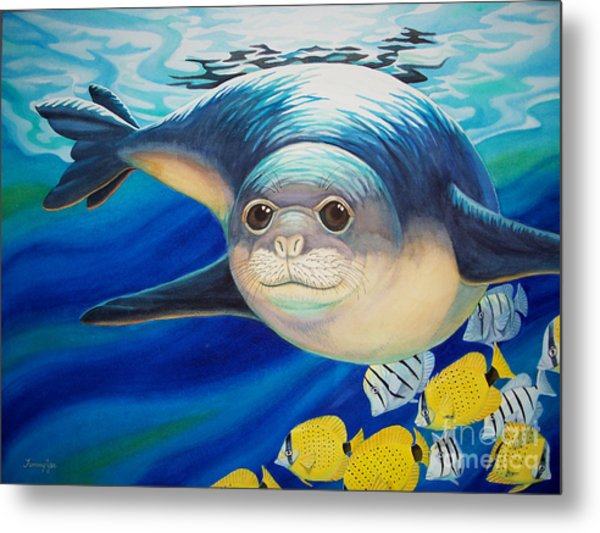 Hawaiian Monk Seal For Noaa Monk Seal Recovery Program Metal Print by Tammy Yee