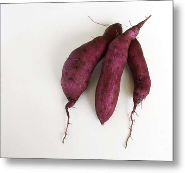 Hawaiian Purple Sweet Potatos Metal Print