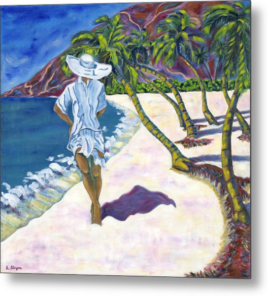 Hawaiian Stroll Metal Print