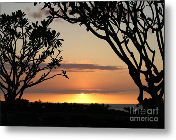 Hawaiian Sunset All Profit Go To Hospice Of The Calumet Area Metal Print