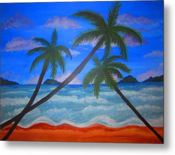 Hawaiin Beach Metal Print by Haleema Nuredeen