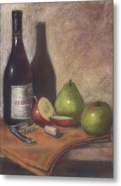 Hawley Wine Tasting Metal Print by Ellen Minter