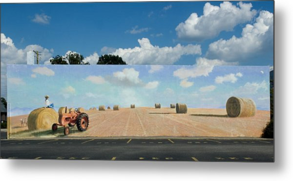Haybales - The Other Side Of The Tunnel Metal Print