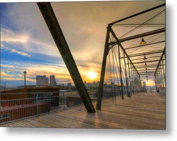 Hays Street Bridge At Sunset Metal Print
