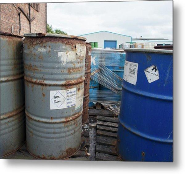 Hazardous Industrial Waste Metal Print