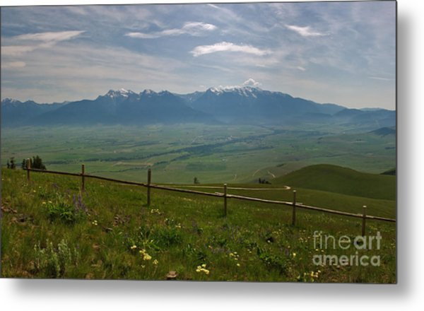Hazy Day Over The Flathead Valley Metal Print by Charles Kozierok
