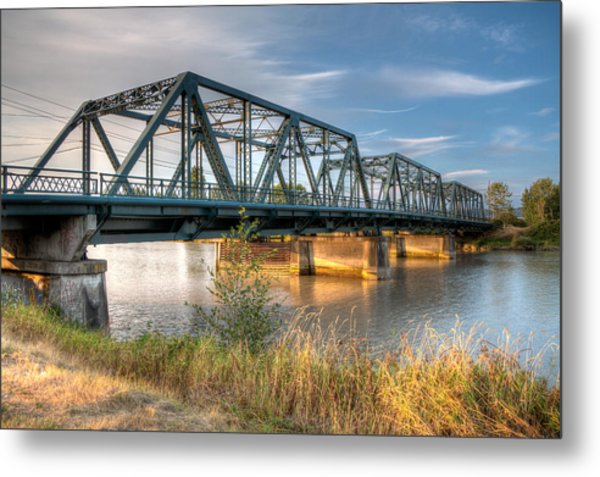 Hdr - Lincoln Ave. Bridge Metal Print