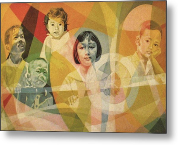 He Took Them In His Arms Metal Print by Glenn Bautista