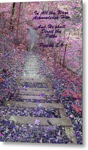 He Will Direct My Path Metal Print