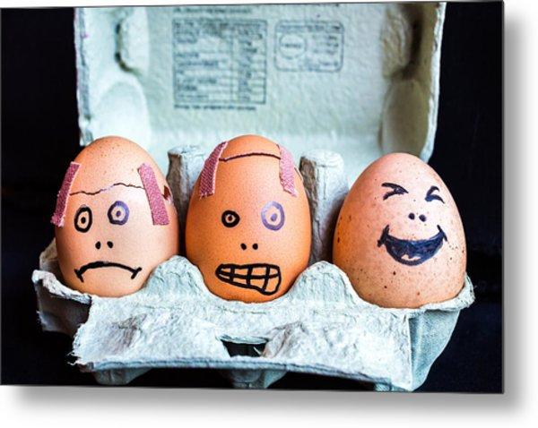 Headache Eggs. Metal Print