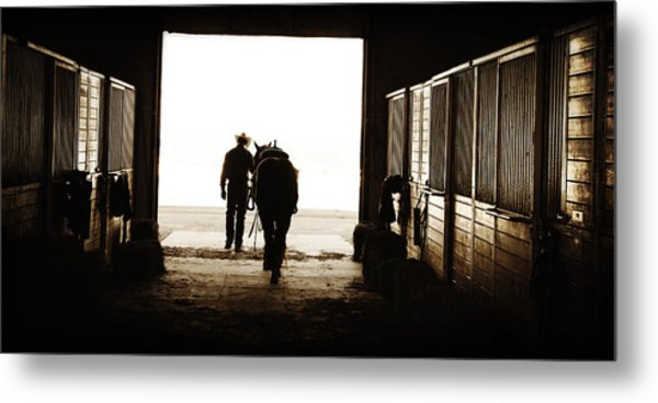 Heading For An Early Morning Ride Metal Print