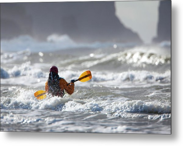 Heading Out At The La Push Pummel Metal Print by Gary Luhm