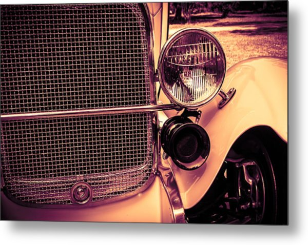 Headlight And Horn Metal Print