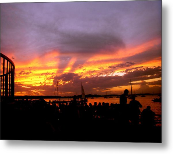 Headlights Of Sunset Metal Print