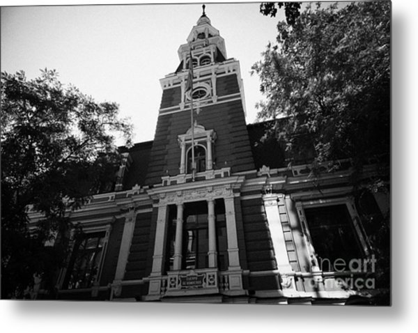 headquarters of the fire department of Santiago Chile Metal Print by Joe Fox
