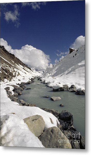 Headwaters Of Barun Khola - Makalu Base Camp Metal Print
