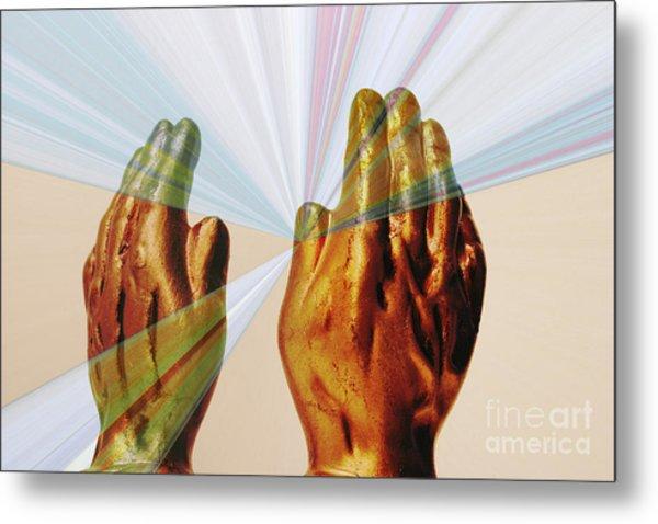 Healing Hands Metal Print