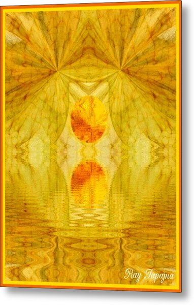 Healing In Golden Sunlight Metal Print by Ray Tapajna