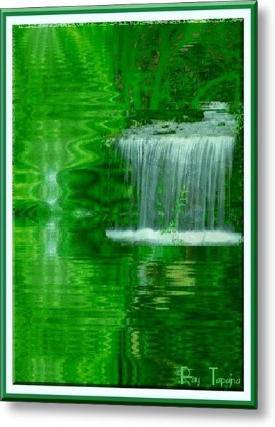 Healing In Green Waters Metal Print by Ray Tapajna