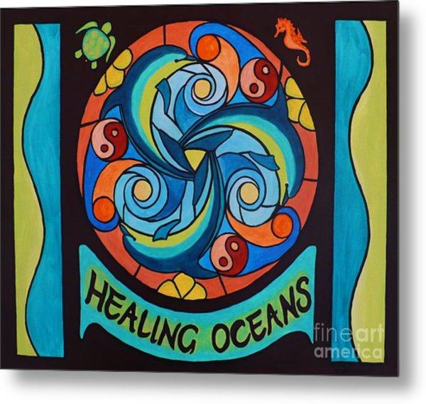Healing Oceans Metal Print by Janet McDonald