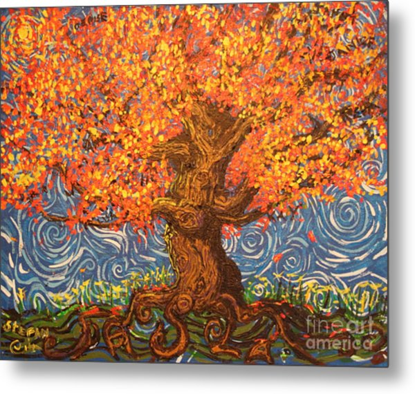 Healthy At Home Tree Metal Print