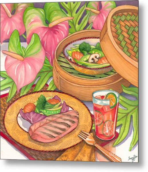 Healthy Dining Metal Print by Tammy Yee