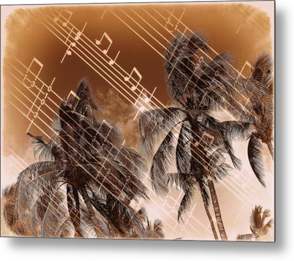 Hear The Music Metal Print