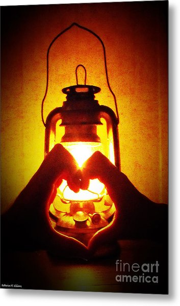 Heart By Golden Light Metal Print by Katherine Williams