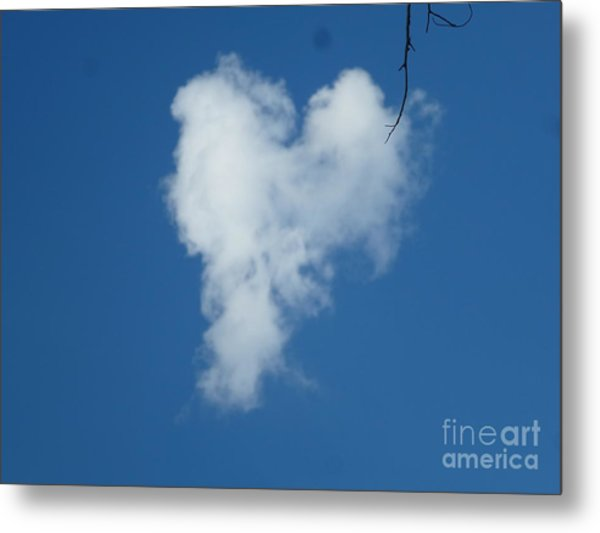 Heart Cloud Bell Rock Metal Print