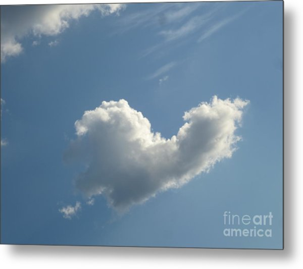 Heart Cloud Sedona Metal Print
