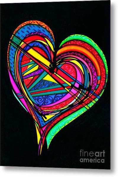 Heart Heart Heart Metal Print