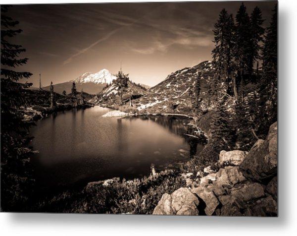 Heart Lake And Mt Shasta Metal Print