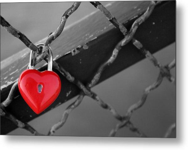 Heart Lock Metal Print