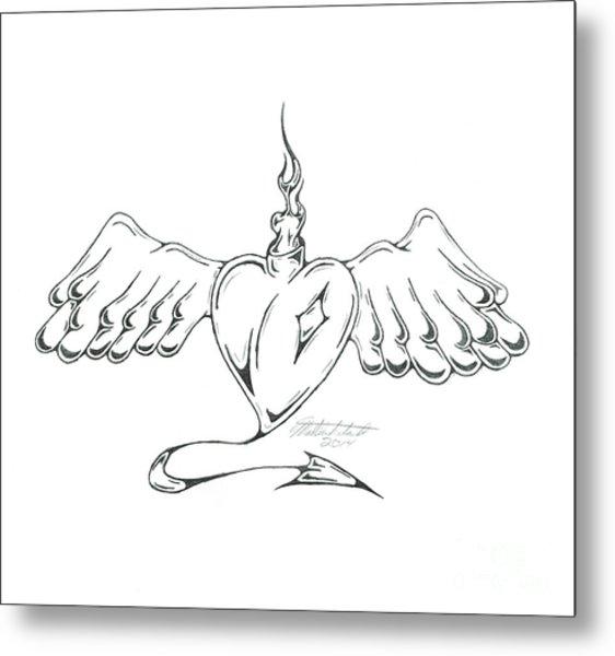 Heart Metal Print by Matt Sutherland