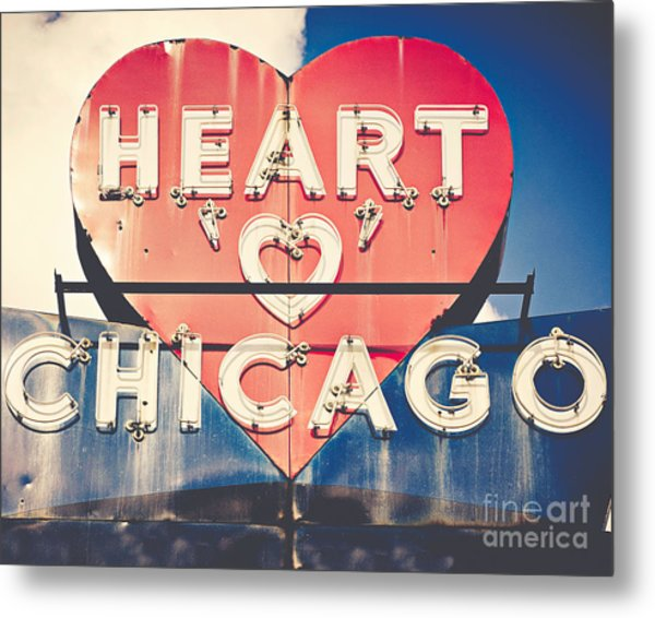 Heart Of Chicago Metal Print